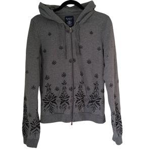 Bluenotes women's long sleeve zip up grey hoodie size XL